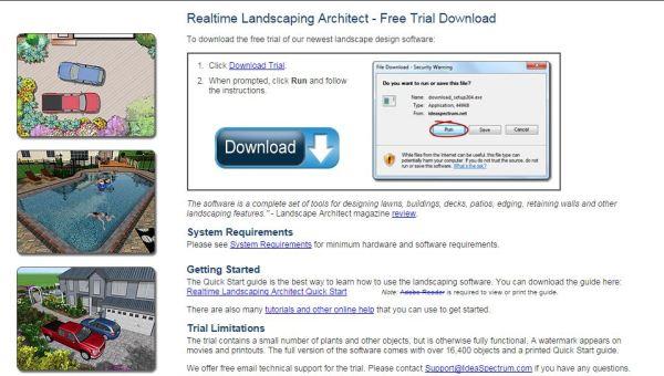 Программа для ландшафтного дизайна Realtime Landscaping