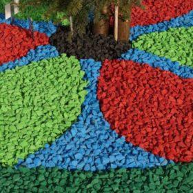 Цветной декоративный щебень для ландшафтного дизайна