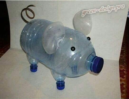 создание фигурки из пластиковой бутылки шаг2
